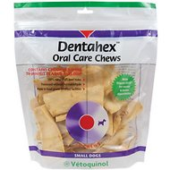 Vetoquinol Dentahex Oral Care Dog Chews, Small