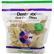 Vetoquinol Dentahex Oral Care Dog Chews, Large