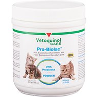 Vetoquinol Pro-Biolac Milk Replacer for Kittens Powder Cat Supplement, 200g container