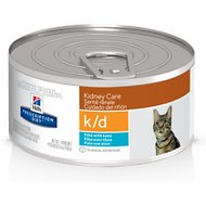 Hill's Prescription Diet k/d Kidney Care with Ocean Fish Canned Cat Food, 5.5-oz, case of 24