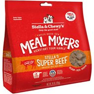 Stella & Chewy's Stella's Super Beef Meal Mixers Freeze-Dried Raw Dog Food Topper, 18-oz bag