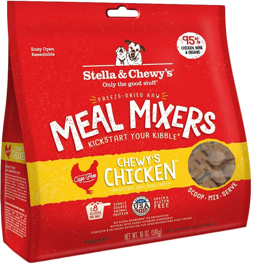 Stella Chewys Chewys Chicken Meal Mixers Freeze Dried Raw Dog