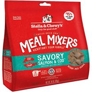 Stella & Chewy's Savory Salmon & Cod Meal Mixers Freeze-Dried Raw Dog Food Topper, 18-oz bag