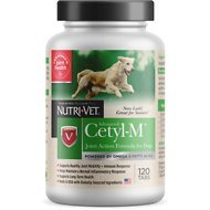 Nutri-Vet Cetyl-M Advanced Joint Action Formula Tablets Dog Supplement, 120 count
