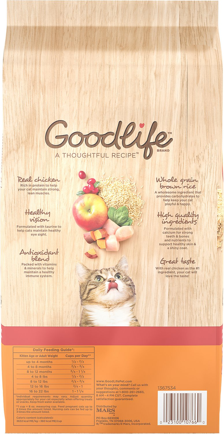 Goodlife Real Chicken Brown Rice Recipe Dry Cat Food