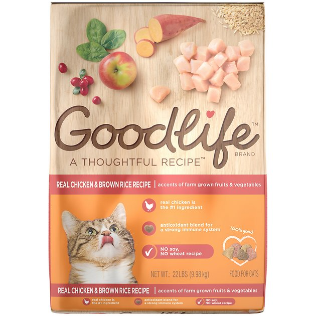 Goodlife real chicken brown rice recipe dry cat food 22 lb bag goodlife real chicken brown rice recipe dry cat food 22 lb bag chewy forumfinder Image collections