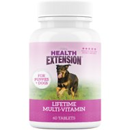 Health Extension Lifetime Vitamins Chewable Dog Tablets, 60 count