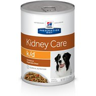 Hill's Prescription Diet k/d Kidney Care Chicken & Vegetable Stew Canned Dog Food, 12.5-oz, case of 12