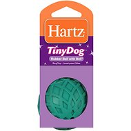 Hartz Tiny Dog Rubber Ball with Bell Dog Toy, Color Varies
