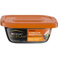 Purina Pro Plan Savory Meals Braised Chicken Entree with Real Spinach Wet Dog Food, 10-oz tub, case of 8