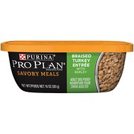 Purina Pro Plan Savory Meals Braised Turkey Entree with Barley Wet Dog Food, 10-oz tub, case of 8