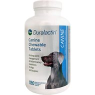 Duralactin Canine Chewable Vanilla Flavored Tablet Dog Supplement, 180 count