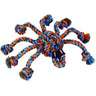 Mammoth SnakeBiter Spider Rope Dog Toy, Color Varies, Medium