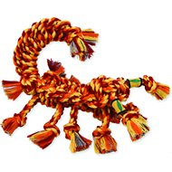 Mammoth SnakeBiter Scorpion Rope Dog Toy, Color Varies, Medium