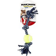 Mammoth Denim 3 Knot Rope Tug with Tennis Ball Dog Toy, Mini