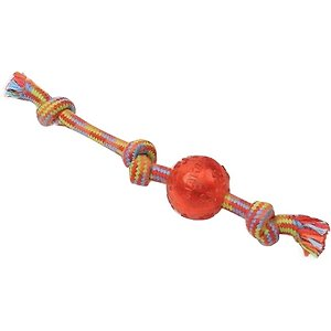 Mammoth Braided Tug with TPR Ball for Dogs