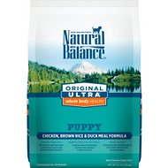 Natural Balance Original Ultra Whole Body Health Puppy Formula Chicken, Brown Rice & Duck Meal Dry Dog Food, 4.5-lb bag