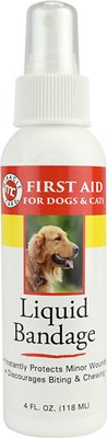 Miracle Care First Aid Liquid Bandage Spray for Dogs & Cats, 4-oz bottle