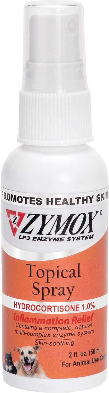 Zymox Topical Spray with Hydrocortisone 1 0% for Dogs & Cats, 2-oz bottle
