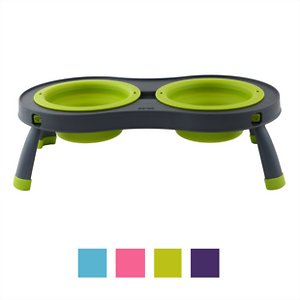 Dexas Popware for Pets Double Elevated Pet Bowls