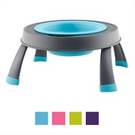Dexas Popware for Pets Single Elevated Pet Bowl, Blue, Small