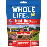 Whole Life Just One Ingredient Pure Beef Freeze-Dried Dog Treats, 3.3-oz bag
