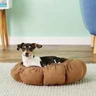 Aspen Pet Puffy Round Dog & Cat Bed, Color Varies