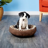 Aspen Pet Round Animal Print Dog & Cat Bed, Color Varies