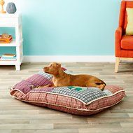 Aspen Pet Quilted Novelty Bed for Dogs & Cats, Color Varies