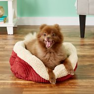 Aspen Pet Self Warming Pet Bed, Warm Spice/Cream, 19-in