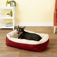 Aspen Pet Self Warming Pet Bed, Warm Spice/Cream, 35-in
