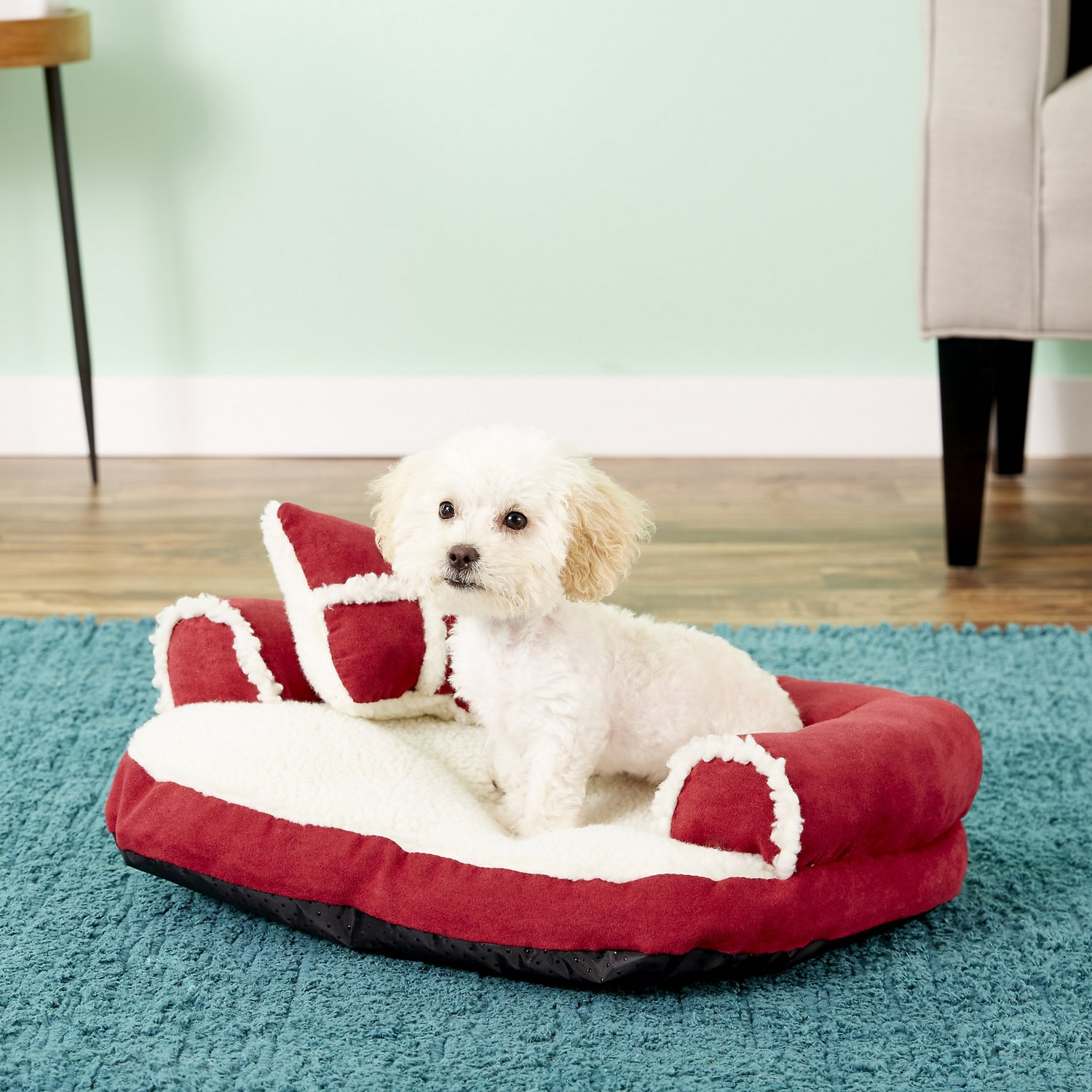 Aspen Pet Bolster Cat Dog Bed Color