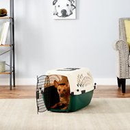 Petmate Ruff Maxx Kennel for Dogs & Cats, Off White/Green, 24-in