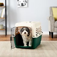Petmate Ruff Maxx Kennel for Dogs & Cats, Off White/Green, 28-in
