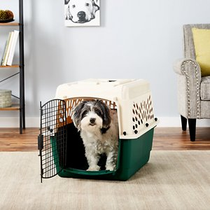 Petmate Ruff Maxx Dog & Cat Kennel, Off White/Green, 28-in