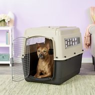 Petmate Ultra Vari Kennel for Dogs & Cats, Taupe/Black, 36-in