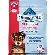 Blue Buffalo Blue Puppy Bones Regular Dental Chews Dog Treats, 12-oz bag