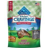 Blue Buffalo Kitchen Cravings Beef Sausages Dog Treats, 6-oz bag