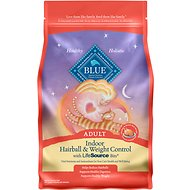Blue Buffalo Indoor Hairball & Weight Control Chicken & Brown Rice Recipe Adult Dry Cat Food, 7-lb bag