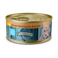 Blue Buffalo Wilderness Rocky Mountain Recipe Flaked Trout Feast Adult Grain-Free Canned Cat Food, 5.5-oz, case of 24