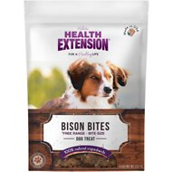 Health Extension Bison Bites Grain-Free Dog Treats, 4.5-oz bag