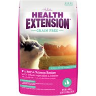 Health Extension Grain-Free Turkey, Salmon & Chickpea Recipe Dry Cat Food, 4-lb bag