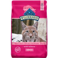 Blue Buffalo Wilderness Salmon Recipe Grain-Free Dry Cat Food, 11-lb bag