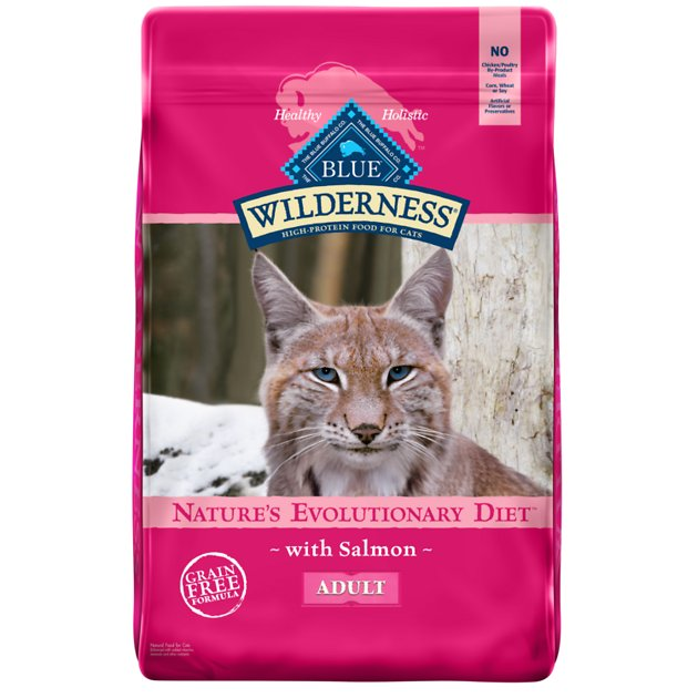 2. Blue Buffalo Wilderness High Protein Grain Free Natural Adult Dry Cat Food