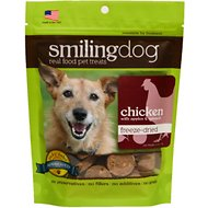 Herbsmith Smiling Dog Chicken with Apples & Spinach Freeze-Dried Dog Treats, 2.5-oz bag