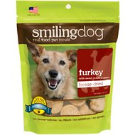 Herbsmith Smiling Dog Turkey with Sweet Potato & Ginger Freeze-Dried Dog Treats, 2.5-oz bag
