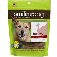 Herbsmith Smiling Dog Turkey Dry-Roasted Dog Treats, 3-oz bag