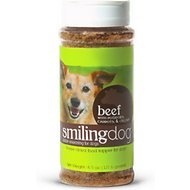 Herbsmith Smiling Dog Kibble Seasoning Freeze-Dried Beef with Potatoes, Carrots, & Celery Dog Food Topper, 4.87-oz bottle