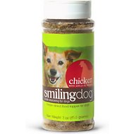 Herbsmith Smiling Dog Kibble Seasoning Freeze-Dried Chicken with Apples & Spinach Dog Food Topper, 3-oz bottle