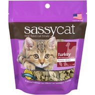 Herbsmith Sassy Cat Turkey with Sweet Potato & Ginger Freeze-Dried Cat Treats, 1.25-oz bag
